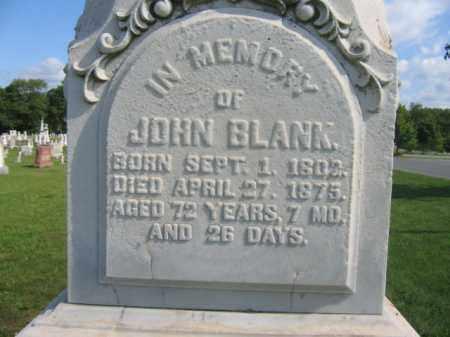 BLANK, JOHN - Lehigh County, Pennsylvania | JOHN BLANK - Pennsylvania Gravestone Photos