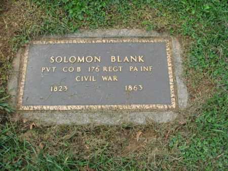 BLANK, PVT.SOLOMON - Lehigh County, Pennsylvania | PVT.SOLOMON BLANK - Pennsylvania Gravestone Photos