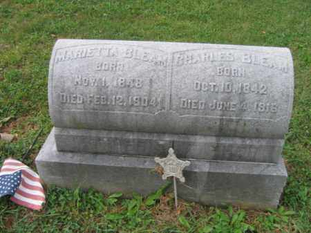 BLEAM, MARIETTA - Lehigh County, Pennsylvania   MARIETTA BLEAM - Pennsylvania Gravestone Photos