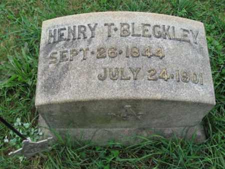 BLECKLEY (CW), HENRY T. - Lehigh County, Pennsylvania | HENRY T. BLECKLEY (CW) - Pennsylvania Gravestone Photos