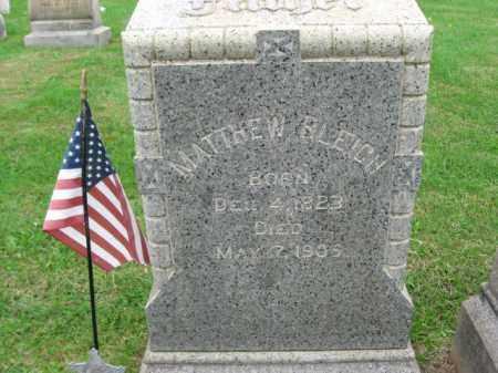 BLEIGH, MATTHEW - Lehigh County, Pennsylvania | MATTHEW BLEIGH - Pennsylvania Gravestone Photos