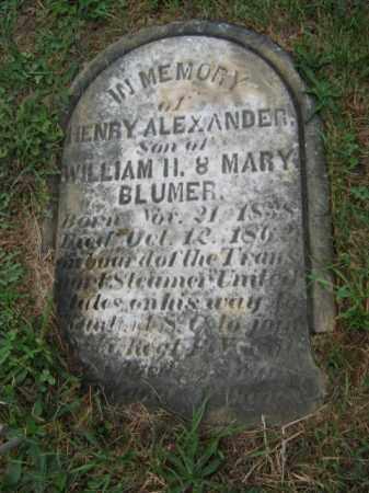 BLUMER, HENRY ALEXANDER - Lehigh County, Pennsylvania | HENRY ALEXANDER BLUMER - Pennsylvania Gravestone Photos