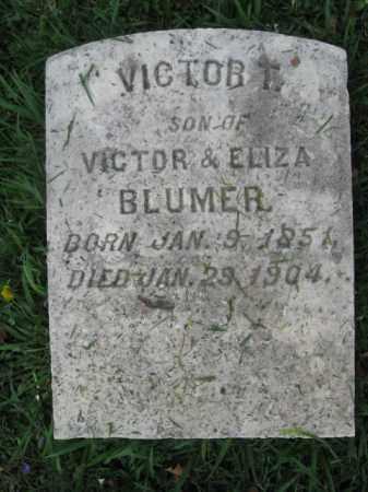 BLUMER, VICTOR T. - Lehigh County, Pennsylvania | VICTOR T. BLUMER - Pennsylvania Gravestone Photos