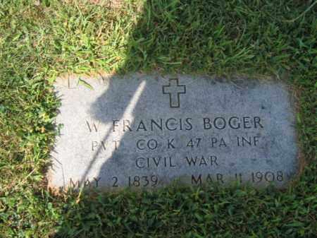 BOGER   (CW), W.FRANCIS - Lehigh County, Pennsylvania   W.FRANCIS BOGER   (CW) - Pennsylvania Gravestone Photos