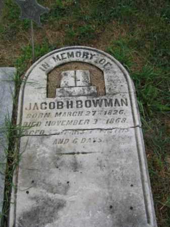 BOWMAN, JACOB H. - Lehigh County, Pennsylvania | JACOB H. BOWMAN - Pennsylvania Gravestone Photos