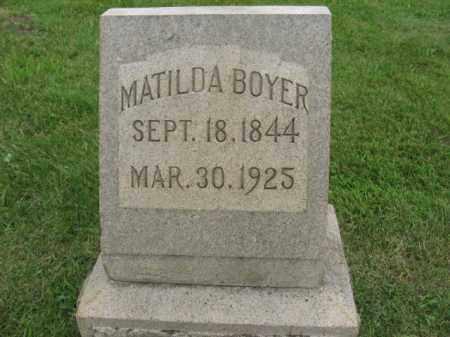 BOYER, MATILDA - Lehigh County, Pennsylvania   MATILDA BOYER - Pennsylvania Gravestone Photos