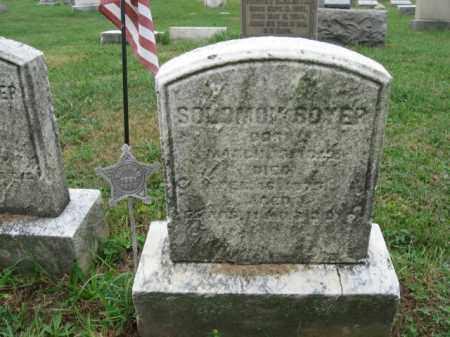 BOYER, SOLOMON - Lehigh County, Pennsylvania | SOLOMON BOYER - Pennsylvania Gravestone Photos
