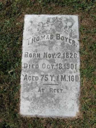BOYER, THOMAS - Lehigh County, Pennsylvania   THOMAS BOYER - Pennsylvania Gravestone Photos