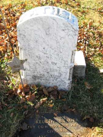 BRADER, PVT. REUBEN - Lehigh County, Pennsylvania | PVT. REUBEN BRADER - Pennsylvania Gravestone Photos