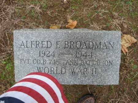 BROADMAN, ALFRED F. - Lehigh County, Pennsylvania | ALFRED F. BROADMAN - Pennsylvania Gravestone Photos