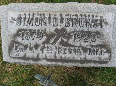 BRUNST, SIMON D. - Lehigh County, Pennsylvania | SIMON D. BRUNST - Pennsylvania Gravestone Photos