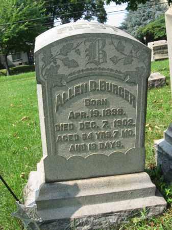 BURGER, ALLEN D. - Lehigh County, Pennsylvania | ALLEN D. BURGER - Pennsylvania Gravestone Photos