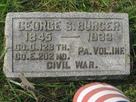BURGER, GEORGE S. - Lehigh County, Pennsylvania | GEORGE S. BURGER - Pennsylvania Gravestone Photos