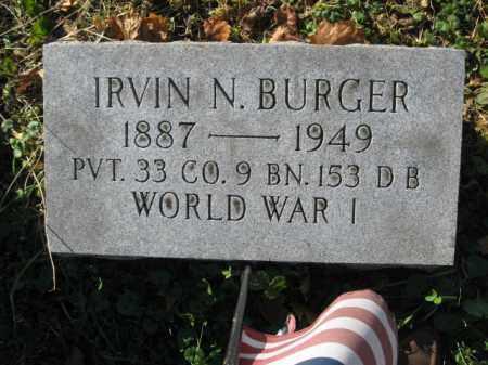 BURGER, IRVIN N. - Lehigh County, Pennsylvania | IRVIN N. BURGER - Pennsylvania Gravestone Photos