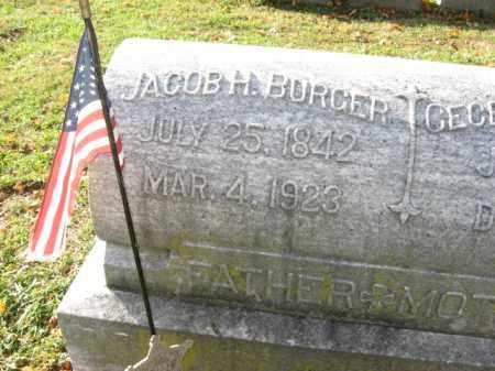BURGER, PVT.JACOB H. - Lehigh County, Pennsylvania | PVT.JACOB H. BURGER - Pennsylvania Gravestone Photos
