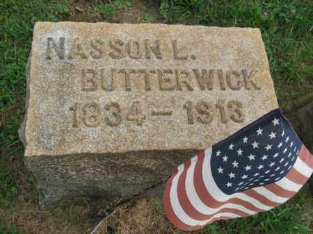 BUTTERWICK, NASSON L. - Lehigh County, Pennsylvania   NASSON L. BUTTERWICK - Pennsylvania Gravestone Photos