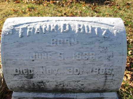 BUTZ, FRANK D. - Lehigh County, Pennsylvania | FRANK D. BUTZ - Pennsylvania Gravestone Photos