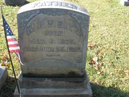 BUTZ, W.H.H. - Lehigh County, Pennsylvania | W.H.H. BUTZ - Pennsylvania Gravestone Photos