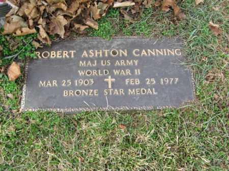 CANNING, MAJOR ROBERT ASHTON - Lehigh County, Pennsylvania | MAJOR ROBERT ASHTON CANNING - Pennsylvania Gravestone Photos