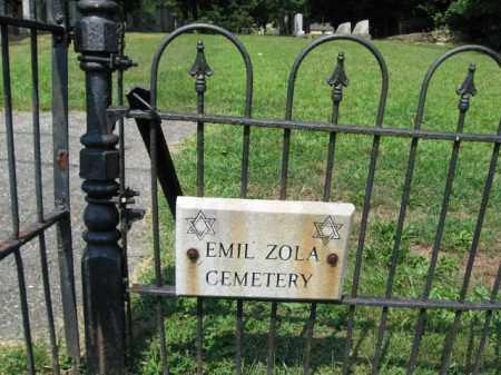 CEMETERY SIGN, EMIL ZOLA - Lehigh County, Pennsylvania | EMIL ZOLA CEMETERY SIGN - Pennsylvania Gravestone Photos