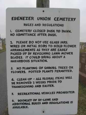 CEMETERY SIGN, EBENEZER UNION - Lehigh County, Pennsylvania | EBENEZER UNION CEMETERY SIGN - Pennsylvania Gravestone Photos