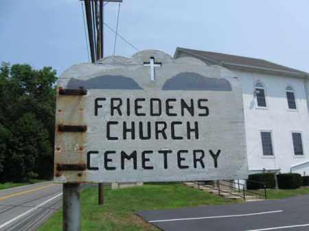 CEMETERY SIGN, FRIEDENS - Lehigh County, Pennsylvania | FRIEDENS CEMETERY SIGN - Pennsylvania Gravestone Photos