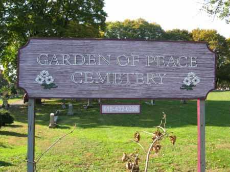 CEMETERY SIGN, GARDEN OF PEACE - Lehigh County, Pennsylvania | GARDEN OF PEACE CEMETERY SIGN - Pennsylvania Gravestone Photos
