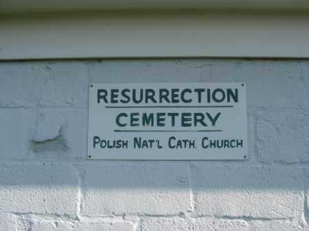 CEMETERY SIGN, RESURRECTION CEMTERY - Lehigh County, Pennsylvania | RESURRECTION CEMTERY CEMETERY SIGN - Pennsylvania Gravestone Photos