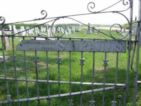 CEMETERY SIGN, ST.PAULS - Lehigh County, Pennsylvania | ST.PAULS CEMETERY SIGN - Pennsylvania Gravestone Photos