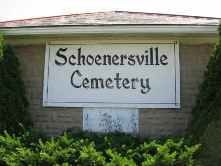 CEMETERY SIGN, SCHOENERSVILLE - Lehigh County, Pennsylvania | SCHOENERSVILLE CEMETERY SIGN - Pennsylvania Gravestone Photos