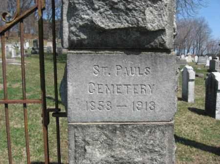 CEMETERY SIGN, ST.PAUL'S - Lehigh County, Pennsylvania | ST.PAUL'S CEMETERY SIGN - Pennsylvania Gravestone Photos