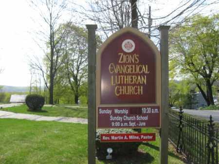 CEMETERY SIGN, ZION EVANGELICAL LUTHERAN - Lehigh County, Pennsylvania | ZION EVANGELICAL LUTHERAN CEMETERY SIGN - Pennsylvania Gravestone Photos