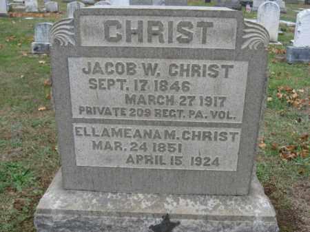 CHRIST (CW), JACOB W. - Lehigh County, Pennsylvania | JACOB W. CHRIST (CW) - Pennsylvania Gravestone Photos