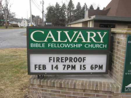 CHURCH SIGN, CALVARY BIBLE FELLOWSHIP - Lehigh County, Pennsylvania | CALVARY BIBLE FELLOWSHIP CHURCH SIGN - Pennsylvania Gravestone Photos