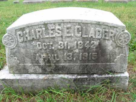 CLADER, CHARLES E. - Lehigh County, Pennsylvania   CHARLES E. CLADER - Pennsylvania Gravestone Photos