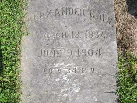 COLE (CW), ALEXANDER - Lehigh County, Pennsylvania   ALEXANDER COLE (CW) - Pennsylvania Gravestone Photos