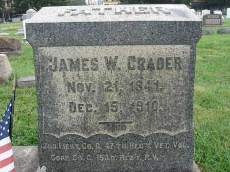 CRADER, LT. JAMES W. - Lehigh County, Pennsylvania | LT. JAMES W. CRADER - Pennsylvania Gravestone Photos