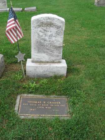 CRADER, THOMAS K. - Lehigh County, Pennsylvania | THOMAS K. CRADER - Pennsylvania Gravestone Photos