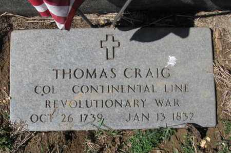 CRAIG (RW), THOMAS - Lehigh County, Pennsylvania | THOMAS CRAIG (RW) - Pennsylvania Gravestone Photos