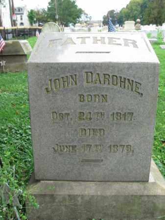 DAROHNE, JOHN - Lehigh County, Pennsylvania   JOHN DAROHNE - Pennsylvania Gravestone Photos