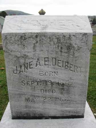 DEIBERT, JANE A.E. - Lehigh County, Pennsylvania   JANE A.E. DEIBERT - Pennsylvania Gravestone Photos