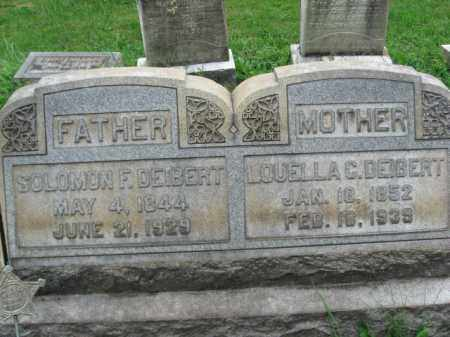 DEIBERT, SOLOMON F. - Lehigh County, Pennsylvania | SOLOMON F. DEIBERT - Pennsylvania Gravestone Photos
