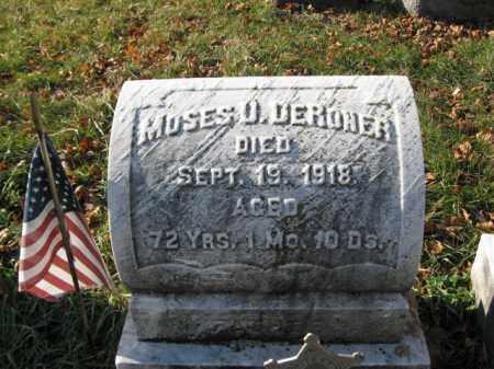 DERONER, PVT. MOSES U. - Lehigh County, Pennsylvania | PVT. MOSES U. DERONER - Pennsylvania Gravestone Photos