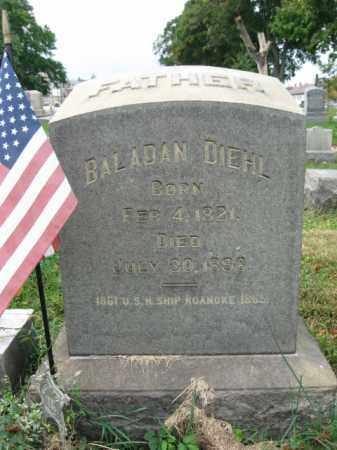 DIEHL, BALADAN - Lehigh County, Pennsylvania   BALADAN DIEHL - Pennsylvania Gravestone Photos