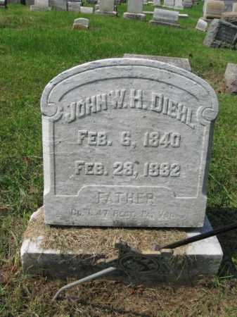 DIEHL, CORP. JOHN W.H. - Lehigh County, Pennsylvania   CORP. JOHN W.H. DIEHL - Pennsylvania Gravestone Photos