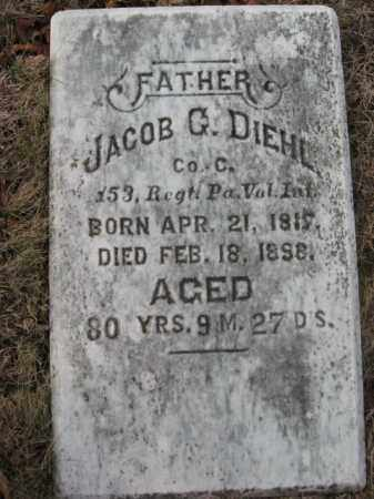 DIEHL, PVT. JACOB G. - Lehigh County, Pennsylvania   PVT. JACOB G. DIEHL - Pennsylvania Gravestone Photos