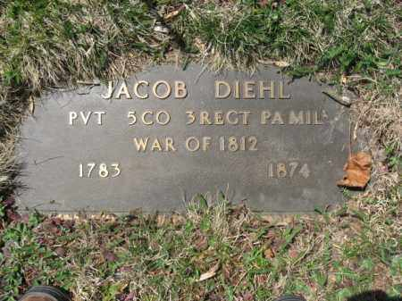 DIEHL, PVT.JACOB - Lehigh County, Pennsylvania | PVT.JACOB DIEHL - Pennsylvania Gravestone Photos