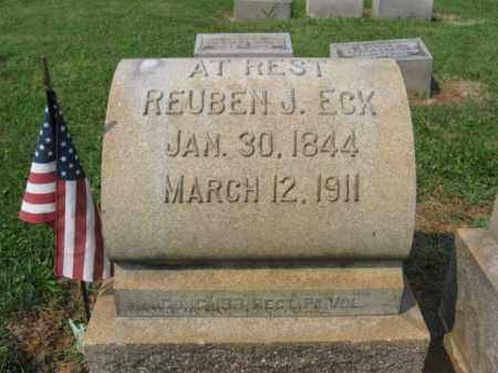 ECK, REUBEN J. - Lehigh County, Pennsylvania   REUBEN J. ECK - Pennsylvania Gravestone Photos