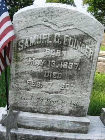 EDINGER, SAMUEL G. - Lehigh County, Pennsylvania | SAMUEL G. EDINGER - Pennsylvania Gravestone Photos