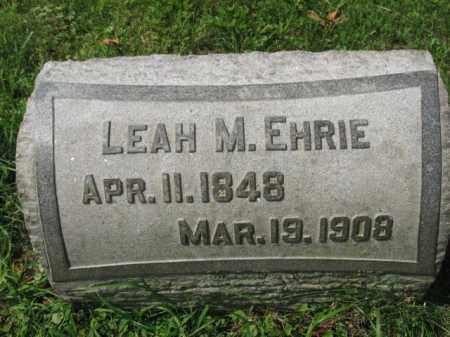 EHRIE, LEAH M. - Lehigh County, Pennsylvania | LEAH M. EHRIE - Pennsylvania Gravestone Photos